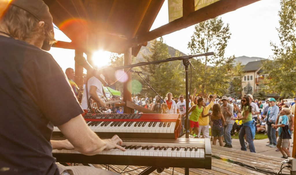 New Orleans Suspects playing the Concert In the Park, Frisco, Colorado